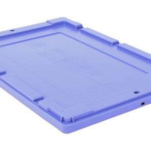 Kuljetuslaatikon kansi 600 x 400 mm, sininen