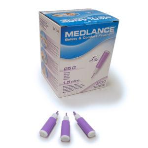 Medlance plus Lite -turvalansetti, 25G 1,5 mm, lila