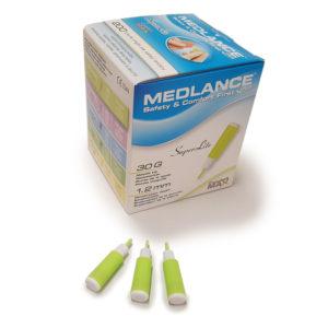Medlance plus Super Lite -turvalansetti, 30G 1,2 mm, minttu
