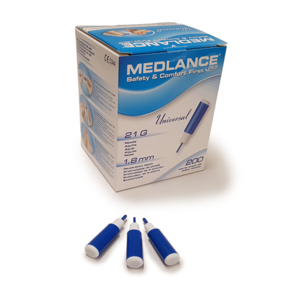 Medlance plus Universal -turvalansetti, 21G 1,8 mm, sininen