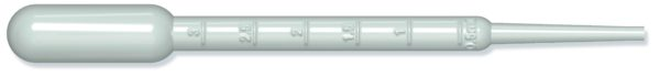 Pasteur-pipetti 3 ml, steriili