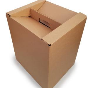 Tekstitön ruskea laatikko, 24 l