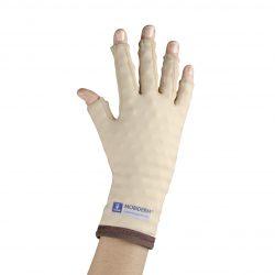 Mobiderm-käsine sormilla