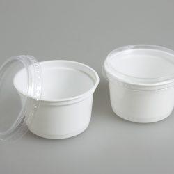 Näytepurkin kansi, läpinäkyvä, Ø 95 mm, 60 kpl
